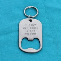 Valentines Day Gift for Men - Personalized Key Chain Bottle Opener for Him