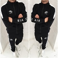 Nike Men Long Sleeve Shirt Sweater Pants Sweatpants Set Two-Piece Sportswear