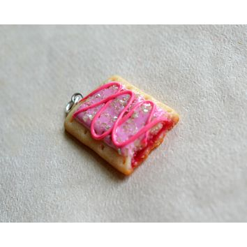 Pink Pop Tart Breakfast Toaster Pastry Charm or Stitch Marker