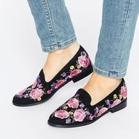 ASOS MUSICAL Embroidered Flat Shoes at asos.com