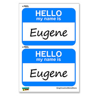 Eugene Hello My Name Is - Sheet of 2 Stickers