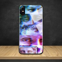 Vaporwave aesthetics Statue Tempered Glass Soft Silicone Phone Case Shell Cover For Apple iPhone 6 6s 7 8 Plus X XR XS MAX