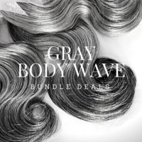 Brazilian Body Wave Gray Sew-In Extensions