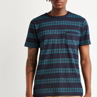Geo-Striped Pocket Tee