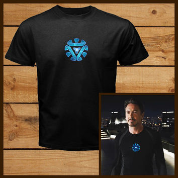 The Avengers T-Shirt Tony Stark Arc Reactor Iron Man Loki Thor Hulk Tee E015
