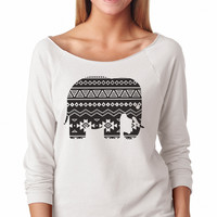 Aztec Tribal Elephant 3/4 Sleeve