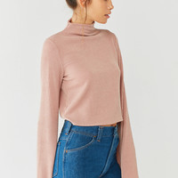Out From Under Zola Ribbed Tie-Back Mock Neck Top | Urban Outfitters