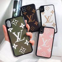 Louis vuitton selling casual men and women large printed IPhone cases