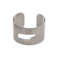 Tennessee State Cuff Bracelet in Silver