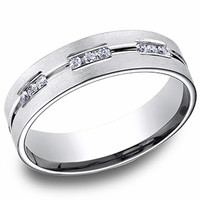 Benchmark  6MM Mens Diamond Wedding Ring