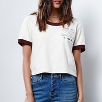 China Grill Cropped Ringer T-Shirt