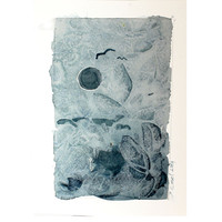 Original Abstract Painting - original contemporary fine art - drawing on paper - abstract landscape