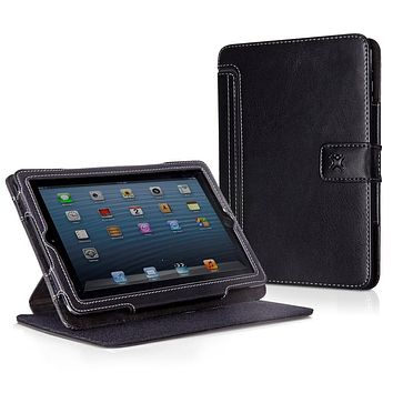 XtremeMac Thin Folio Case for iPad Mini, Faux Leather