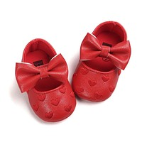 Kids Prewalkers Baby Bebe Soft Moccasin First Walkers Newborn Infant Footwear Sapatos Baby Mary Jane PU Shoes Princess Crib