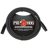 Pig Hog Black & White Woven Mic Cable