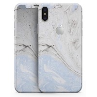 Mixtured blue and Gray v3 Textured Marble - iPhone X Skin-Kit