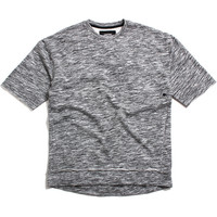 Rugger 3/4 Sleeve Crew Sweatshirt Static Grey