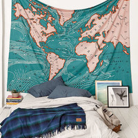 4040 Locust Ocean Current Tapestry | Urban Outfitters