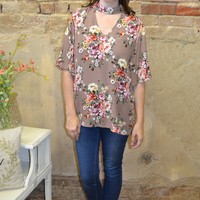 Be Wise Floral Print Top