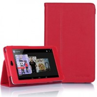 Supcase Google Nexus 7 Tablet Slim Fit Leather Case(Red) with Stand - Black, Sapphire Blue, Green, Purple, Light Blue, Deep Pink, Deep Blue, Red, Pink, Yellow, White