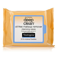 Deep Clean Oil-Free Makeup Remover Cleansing Wipes | NEUTROGENA®