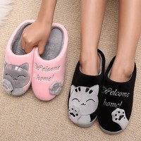 Womens Winter Cat Slippers