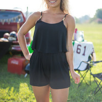 Accent From Heaven Romper, Black
