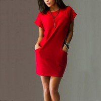 Two side casual pocket Dress