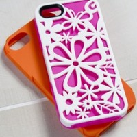 Tech Candy Hipster Collection Blooming 3-Piece Iphone 5 Hard Soft Case