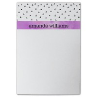 Black and White Triangles with Purple Watercolor Post-it® Notes