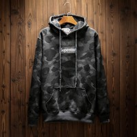 Winter Camouflage Embroidery Alphabet Hoodies [353205321764]