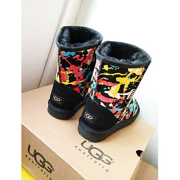 UGG 2018 winter new men and women models warm snow boots shoes