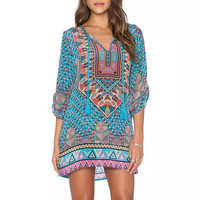 Baroque Geo Print Shift Dress