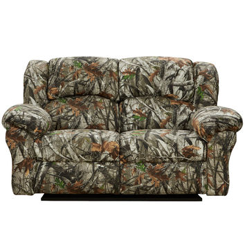 Exceptional Designs Next Camouflage Fabric Reclining Loveseat