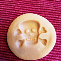 skull cross bones polymer clay mold jewelry making pendant 38mm x30mm crafts