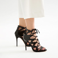 LACE - UP LEATHER SANDALS-View all-SHOES-WOMAN | ZARA United States