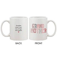 Mother's Day Grandma Coffee Mug for Grandmother - Never Runs Out of Hug Cup