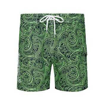 Summer Beach Shorts Men Swimwear Surf Boardshorts Male Floral Print Swimming Breathable Casual Mens Shorts Quick Drying