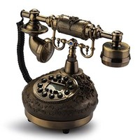 VivReal Retro Vintage Antique Style Desk Telephone Phone Home Living Room Decor