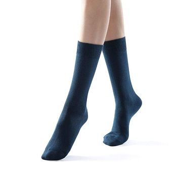 Eva Essential Crew Sock | Blue