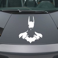 Batman Dark Knight gift Christmas Batman Car Rear Window Sticker Ghost Hero Auto Window  Car Body Sticker White Car Styling AT_71_6