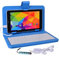 Maxwest Nitro Phablet71 Dual-Core 4GB 7 Unlocked Phone/Tablet w/4G Dual-SIM Android 4.4 Case Keyboard More (Blue)
