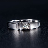 18K Gold 0.05ct Diamond Ring for Men Genuine K Gold and Natural Diamond Men Ring Wedding Engagement Ring Fine Jewelry