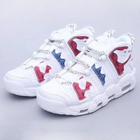 NIKE Air More Uptempo New fashion camouflage running shoes White