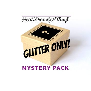 8 Color Mystery Glitter HTV Only Box Deal
