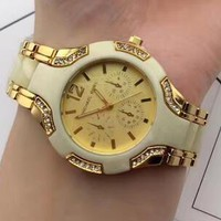 MK Michael Kors Watch Ladies Men Watch Little Ltaly Stylish Watch Golden G-YF-GZYFBY