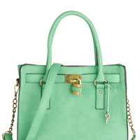 ModCloth Pastel Full Course Load Bag in Mint - 14 inch