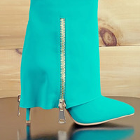Cape Robbin Green Fold Over Ankle Boots 5.5 - 7 - 7.5