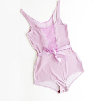 SWEET PIE - pale purple and lilac bodysuit - Ready to ship - OOAK