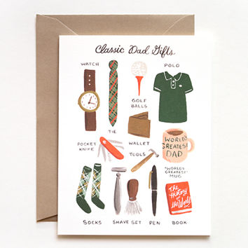 Rifle Paper Co. - Classic Dad Gifts Card